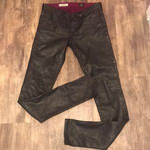 Adriano Goldschmied Super Skinny Letherette Pants